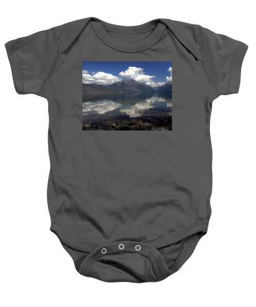 Lake Mcdonald Reflection Glacier National Park Baby Onesie