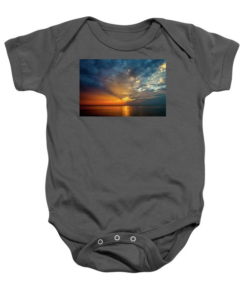 Lake Michigan Sunset Baby Onesie