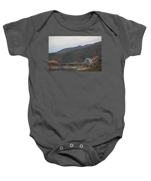 Lake Roosevelt Bridge 2 Baby Onesie