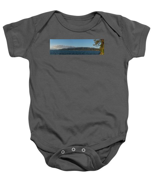 Lake Tahoe Panorama Baby Onesie