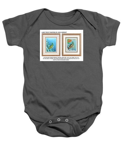 Lake Trout Original Baby Onesie