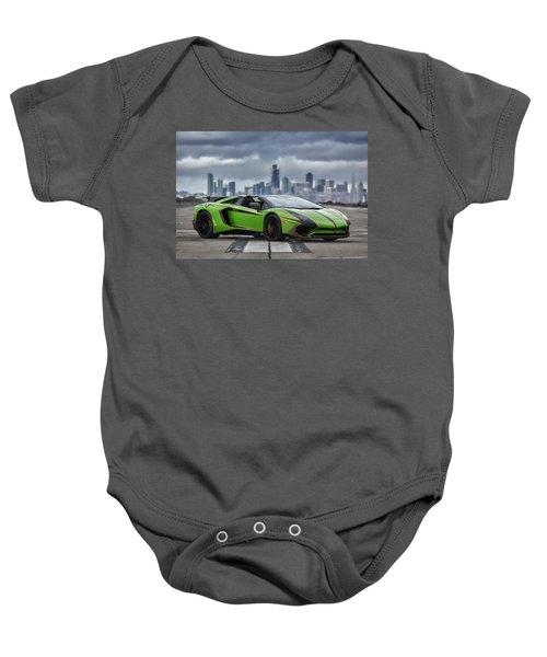 #lamborghini #aventadorsv #superveloce #roadster #print Baby Onesie