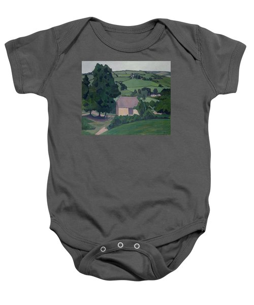 Landscape With Thatched Barn Baby Onesie