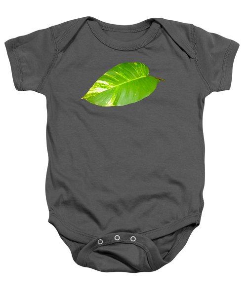 Baby Onesie featuring the digital art Large Leaf Art by Francesca Mackenney