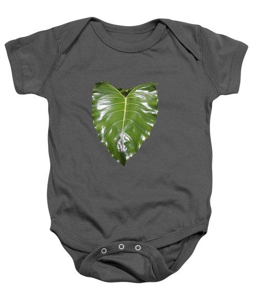 Large Leaf Transparency Baby Onesie