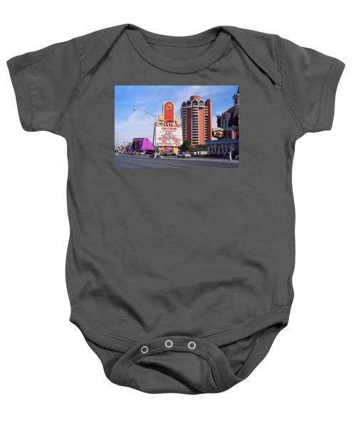 Baby Onesie featuring the photograph Las Vegas 1994 #1 by Frank Romeo