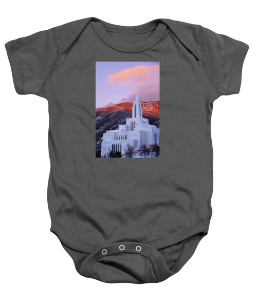 Last Light At Draper Temple Baby Onesie