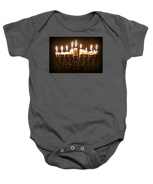 Last Night Of Chanukah Baby Onesie
