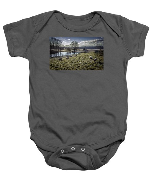 Late Fall Pastoral Baby Onesie