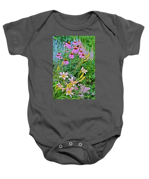Late July Garden 3 Baby Onesie
