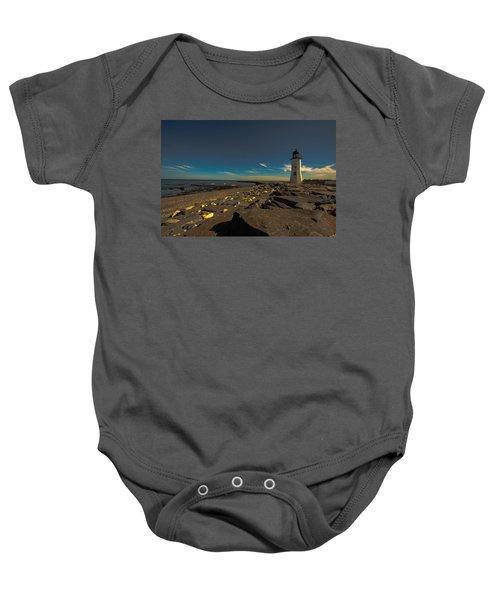 Late Light At The Light Baby Onesie