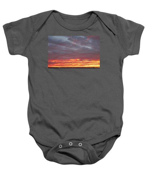 Late Prairie Sunrise Baby Onesie