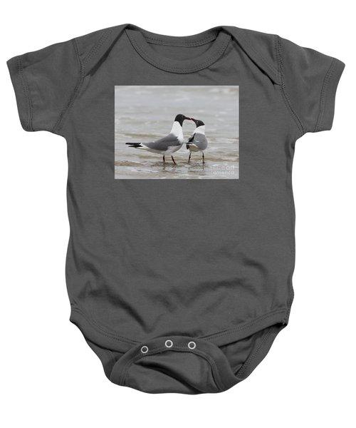 Laughing Gulls In Love Baby Onesie