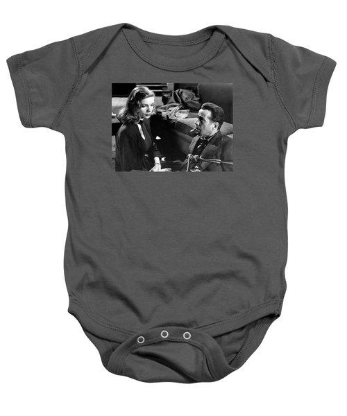 Lauren Bacall Humphrey Bogart Film Noir Classic The Big Sleep 1 1945-2015 Baby Onesie
