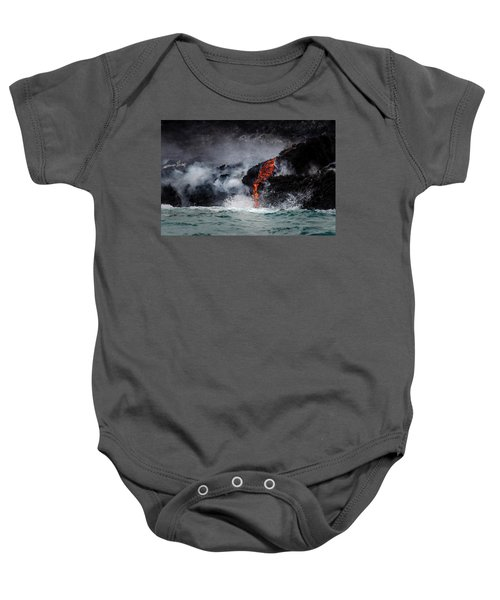 Lava Dripping Into The Ocean Baby Onesie
