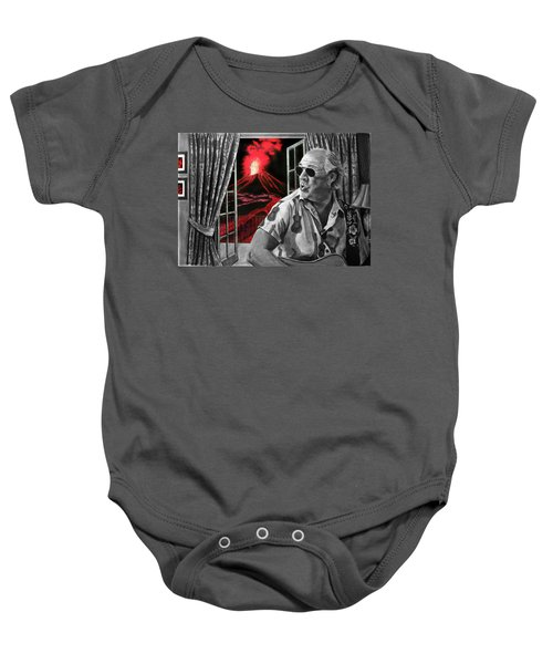 Lava Me Now Or Lava Me Not Baby Onesie by William Underwood