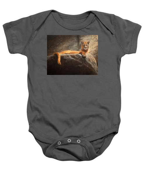 Laying Cougar Baby Onesie