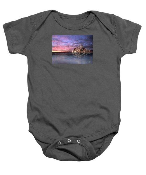 Le Mont Saint Michel At High Tide Baby Onesie