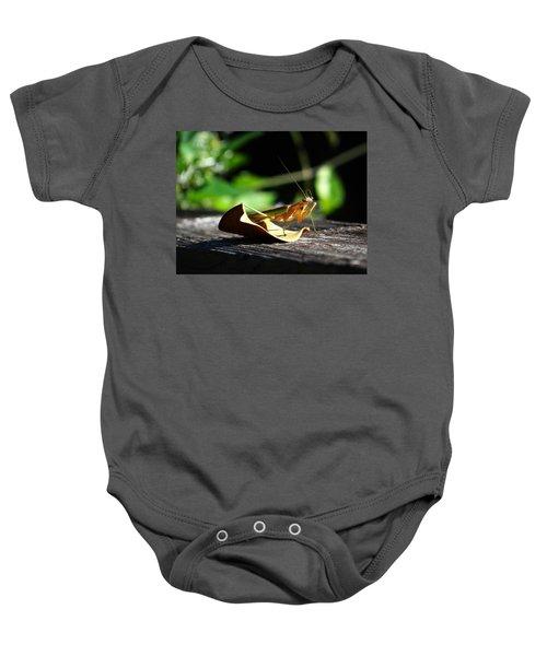 Leafy Praying Mantis Baby Onesie