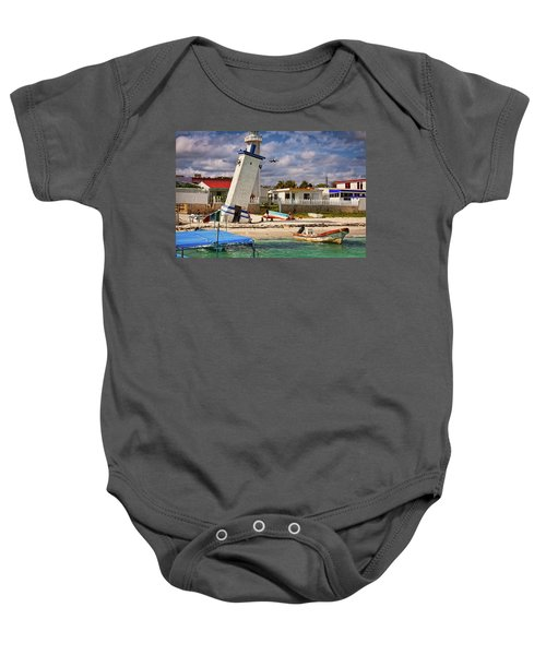 Leaning Lighthouse Baby Onesie