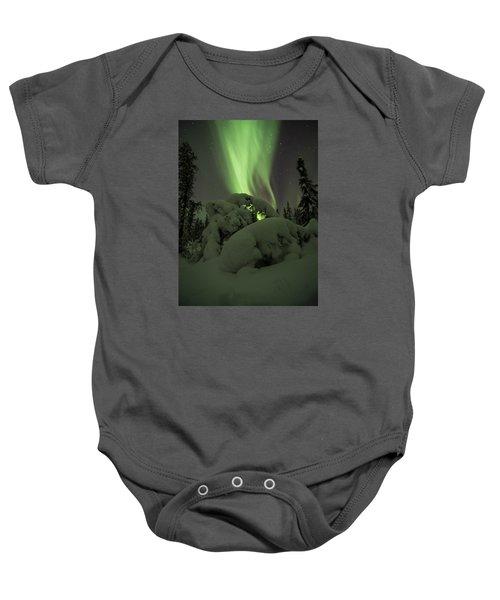 Leaning Spruce Aurora Baby Onesie