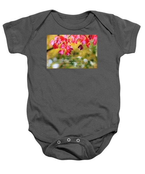 Leaves Believe Baby Onesie