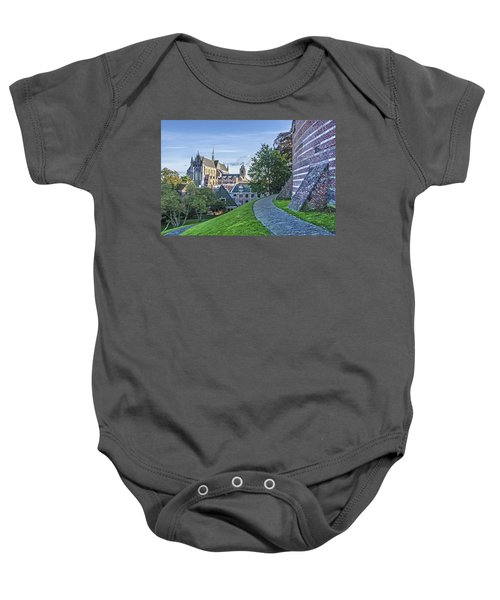 Leiden, The Church And The Castle Baby Onesie
