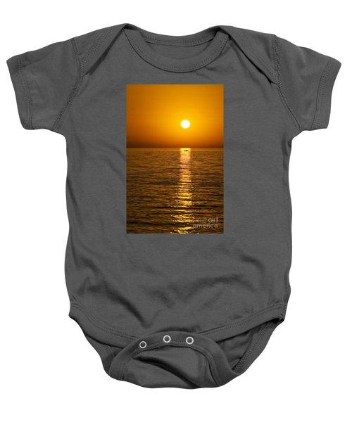 Lesvos Sunset Baby Onesie
