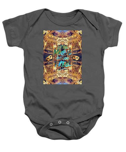 Let The Music Set You Free Opera Garnier Paris France Baby Onesie