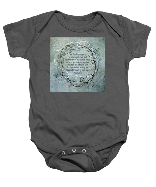 Let There Be Spaces Baby Onesie