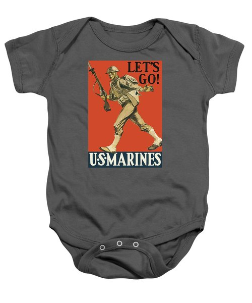 Let's Go - Vintage Marine Recruiting Baby Onesie