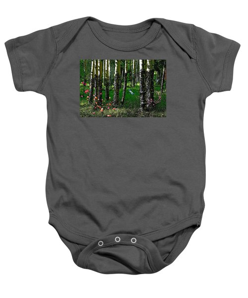 Life Among The Aspens Baby Onesie