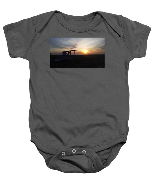 Lifeguard Stand And Sunrise Baby Onesie