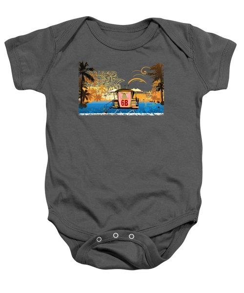 Lifeguard Station 6b Baby Onesie