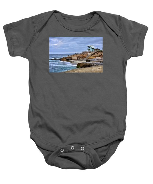 Lifeguard Station At Children's Pool Baby Onesie