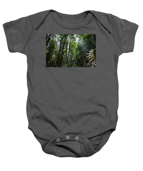 Light In The Forest Baby Onesie