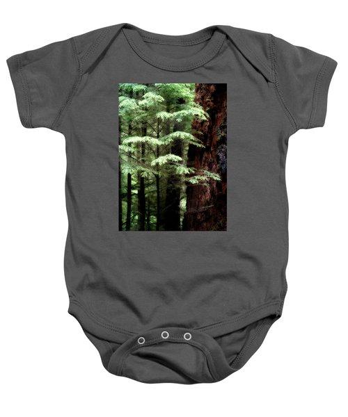 Light On Trees Baby Onesie