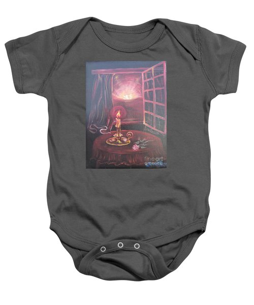 Flying Lamb Productions      Light The Yes Candle Baby Onesie