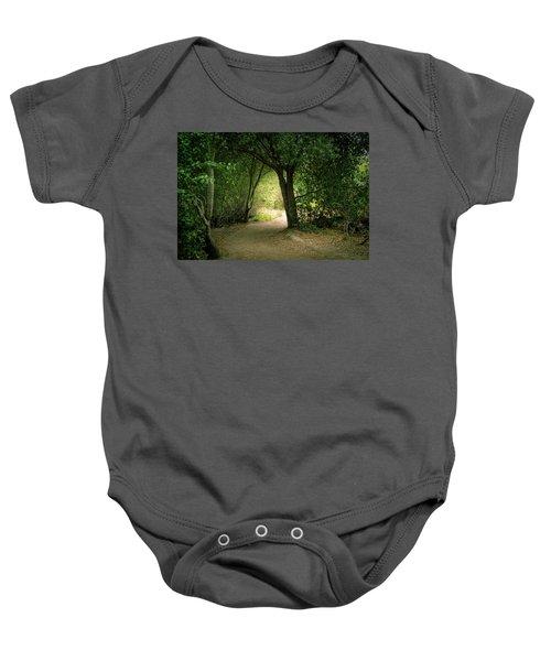 Light Through The Tree Tunnel Baby Onesie