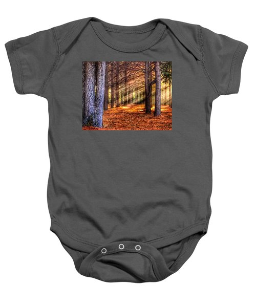 Light Thru The Trees Baby Onesie