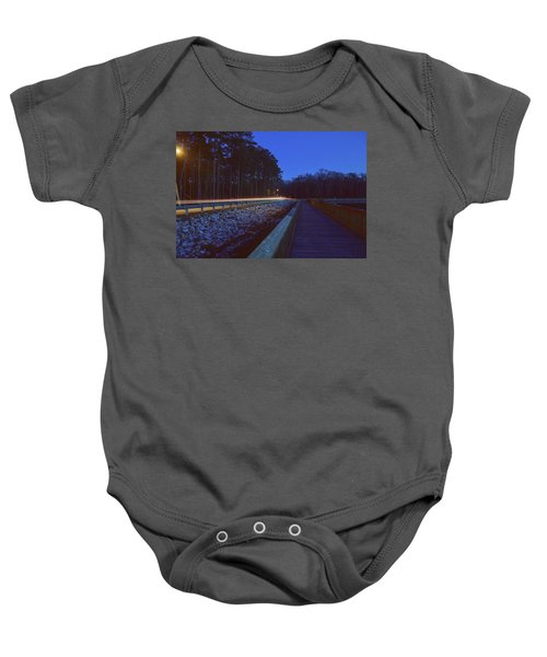 Light Trails On Elbow Road Baby Onesie