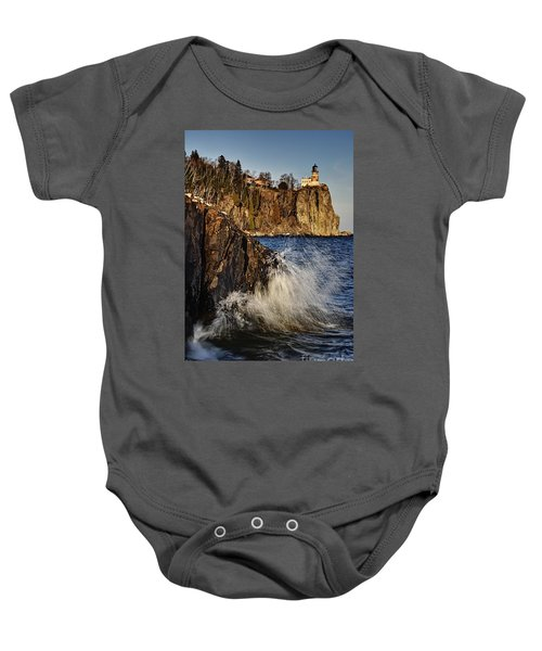 Lighthouse And Spray Baby Onesie