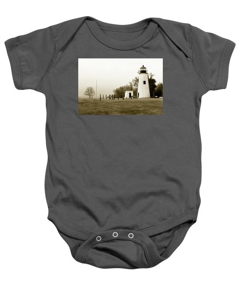Lighthouse At Turkey Point Baby Onesie