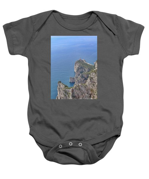 Lighthouse On The Cliff Baby Onesie