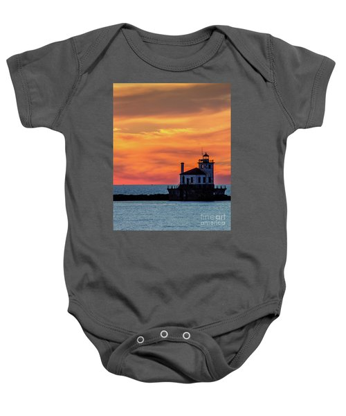 Lighthouse Silhouette Baby Onesie