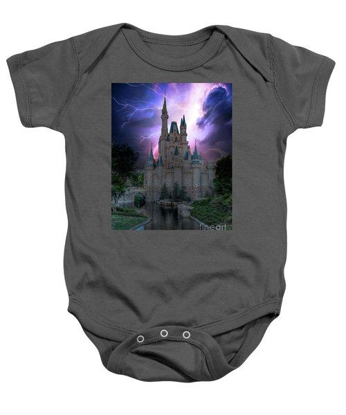 Lighting Over The Castle Baby Onesie