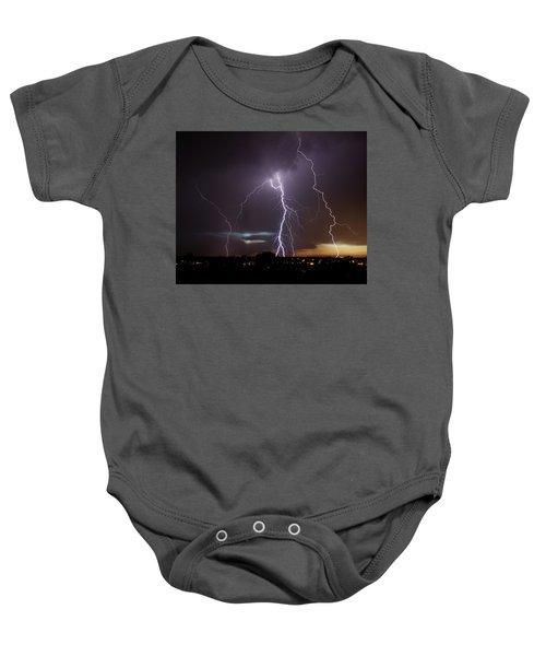Lightning At Dusk Baby Onesie
