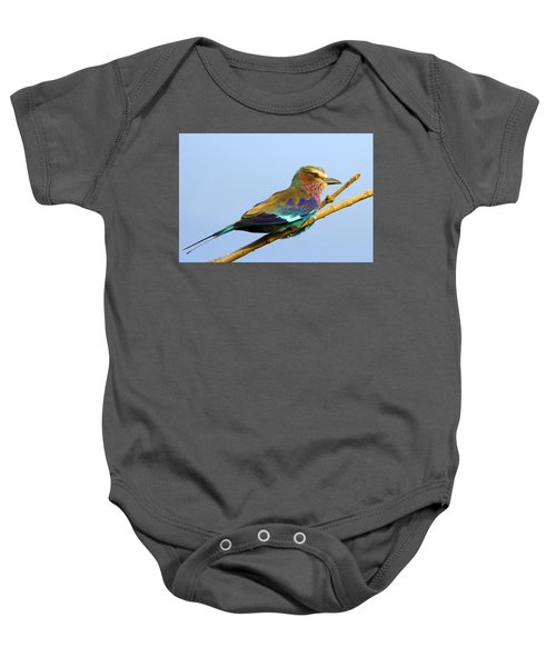 Lilac-breasted Roller Baby Onesie