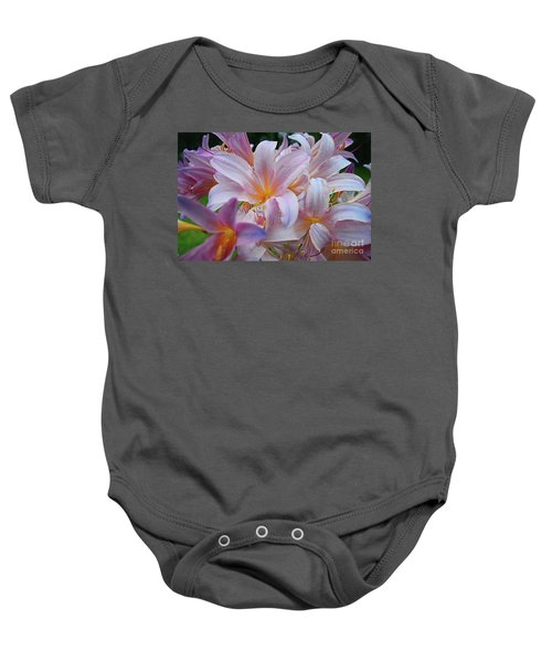 Lily Lavender Closeup Baby Onesie