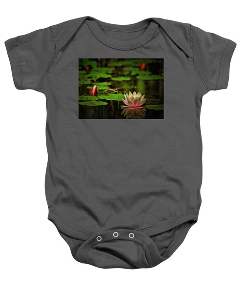 Baby Onesie featuring the digital art Lily Pond by Charmaine Zoe